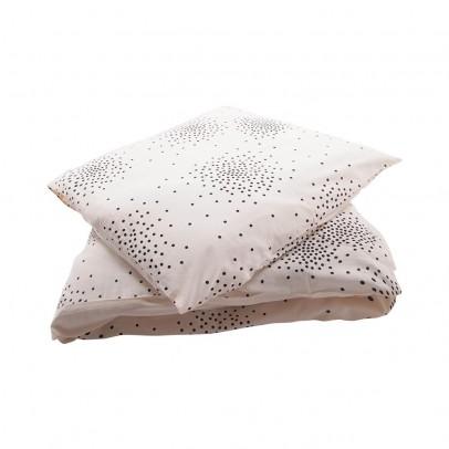 April Showers Juego de cama Junior Crudo - Lunares negros-listing