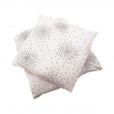 April Showers Juego de cama Junior Crudo - Lunares negros-listing