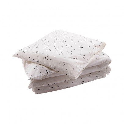 April Showers Junior cream bed linen set - black pattern-listing