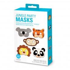 Kikkerland Máscaras de fiesta Jungla - Set de 5-product