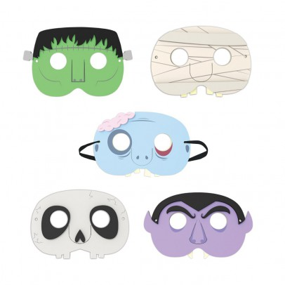 Kikkerland Monsters face masks - set of 5-product
