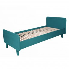 Laurette Rounded bed 90x200 duck blue-listing