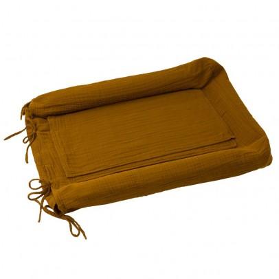 Numero 74 Funda de colchón de cambiado redonda - Amarillo mostaza-listing