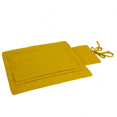 Numero 74 Travel changing mat - Mustard yellow-product