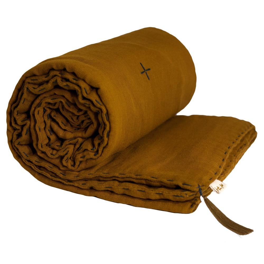 Numero 74 Manta de invierno - Amarillo mostaza-product