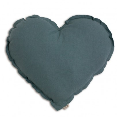 Numero 74 Heart cushion - grey blue-listing