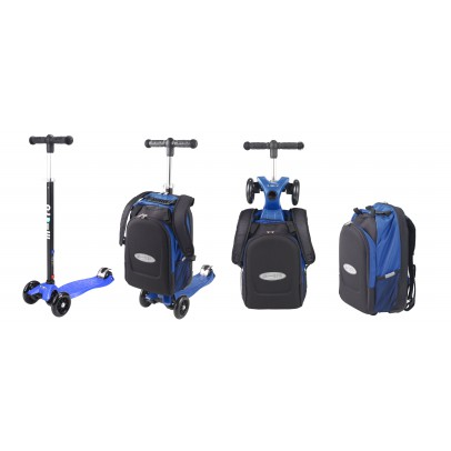 Maxi Micro 4 in 1 scooter with bag  blue