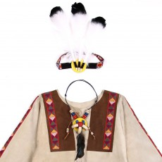 Helga Kreft Native American Indian costume - Beige-listing