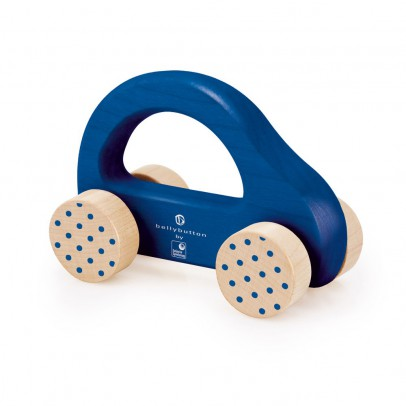 Selecta Wooden car - blue-listing