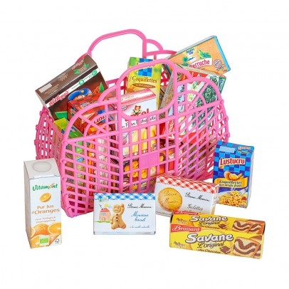 Polly Retro shopping basket with shopping-listing