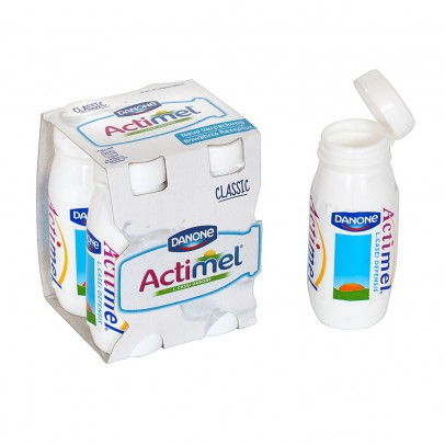 Polly 4 assorted Actimel drinks-listing