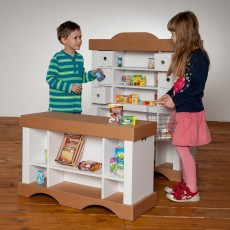 Polly Small cardboard shop with 20 products-listing