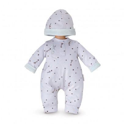 Corolle Pijama Gris Estrella & Gorrito Mi Primer Bebé-listing