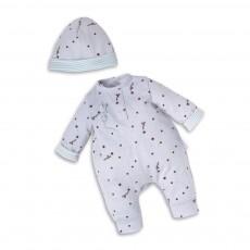 Corolle Pyjama grau mit Sternen und Mütze 30cm für Babypuppen -listing