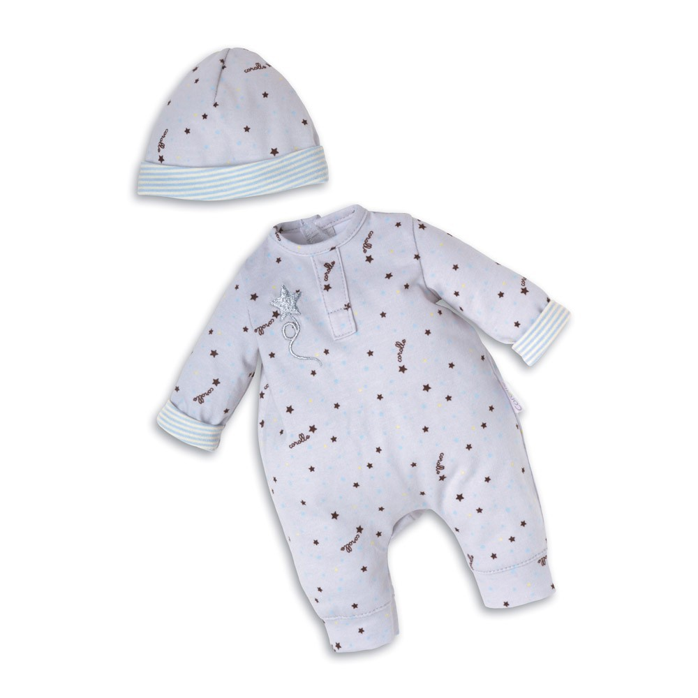 Corolle Pijama Gris Estrella & Gorrito Mi Primer Bebé-product