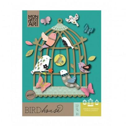 Mon Petit Art Scatola Bird House Canto degli Uccelli-listing