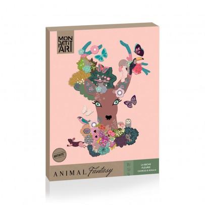 "Mon Petit Art Animal Fantasy ""La biche fleurie""-listing"
