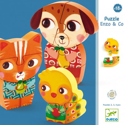 Djeco Enzo & Co wooden puzzle-listing