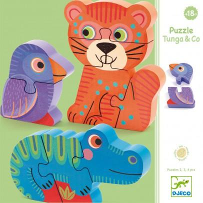 Djeco Holz Puzzle Tunga & Co-listing