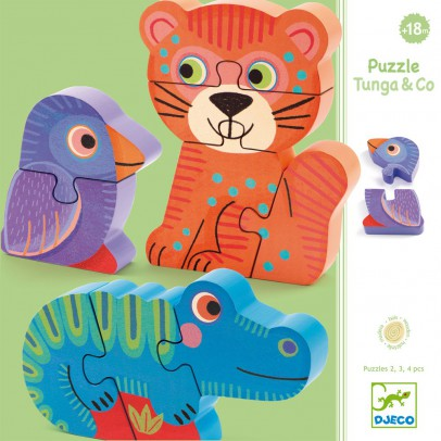Djeco Tunga & Co wooden puzzle-product