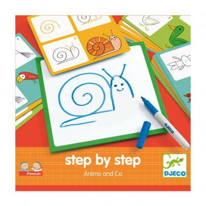 Djeco Animals and Co - Learn to draw-product
