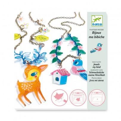 Djeco Joyas para crear Cervatillo y Pájaro - Plástico mágico-product
