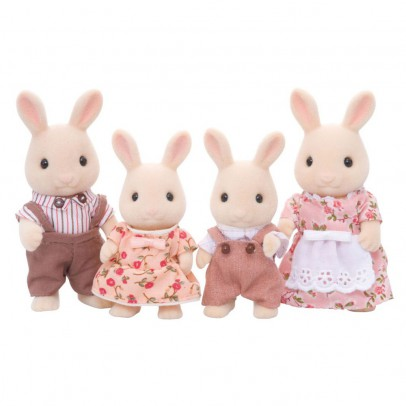 Sylvanian Milk Rabbit Family-listing