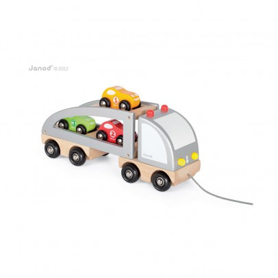 Janod Truck with racing cars-listing