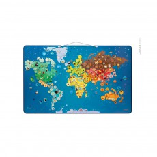 Janod Magnetic world map - Animals-product