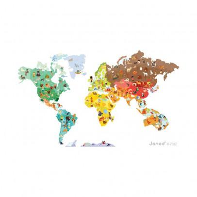 Janod Magneti'stick Mapa del mundo-listing