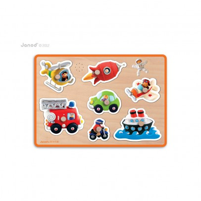 Janod Musical puzzle - Transports-product
