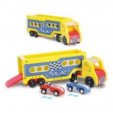 Vilac Lastwagen mit kleinen Aufzieh-Autos-listing