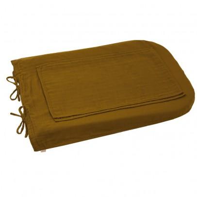 Numero 74 Funda de colchón de cambiado redondo - Amarillo mostaza-product