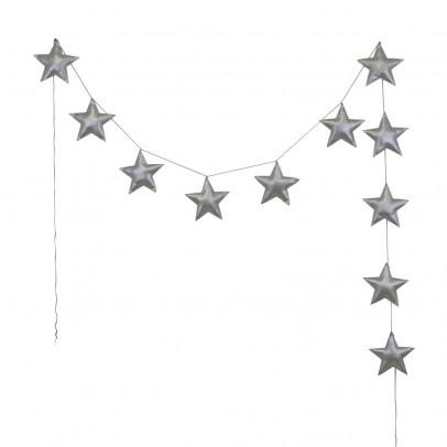 Numero 74 Guirnalda mini - Estrellas - Plateado-listing