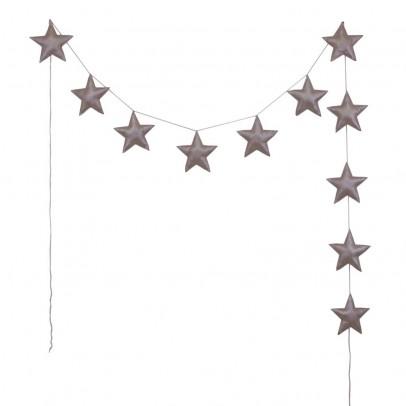Numero 74 Guirlande mini-étoiles - Vieux rose-listing