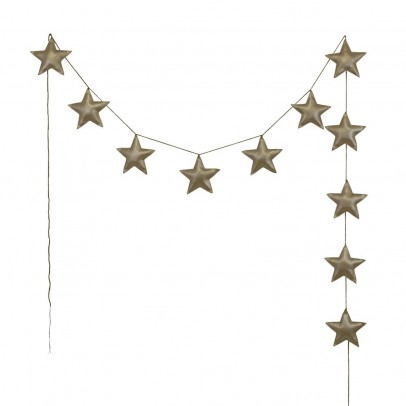 Numero 74 Mini stars garland - golden-product