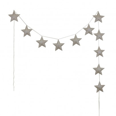 Numero 74 Guirnalda mini-estrellas - Crema-product