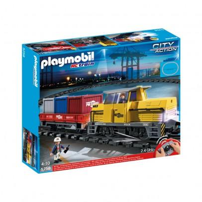 PLAYMOBIL® Tren porta-contenedores radio-control ref.5258-listing