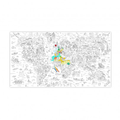 Omy Coloriage géant Atlas-listing