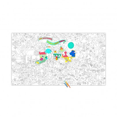 Omy Poster gigante da colorare Jeff Koons-listing