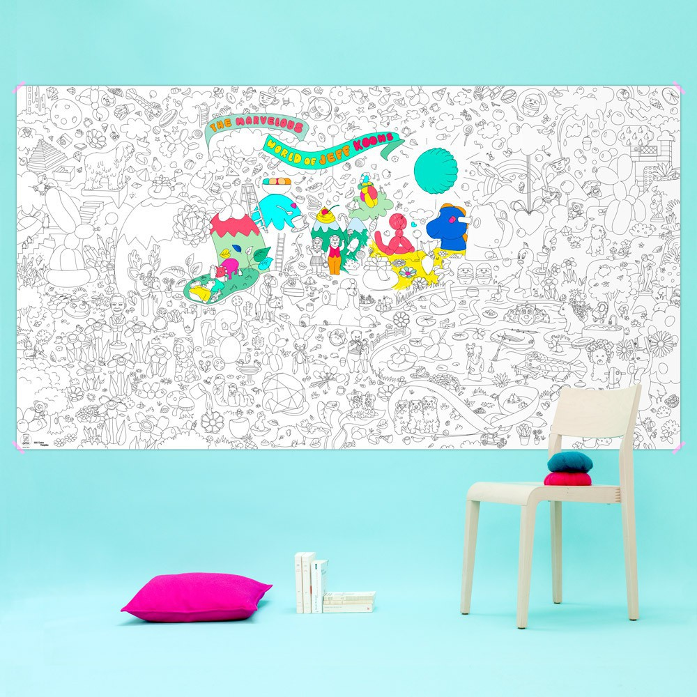 Omy Giant Jeff Koons Colouring-in Poster-product