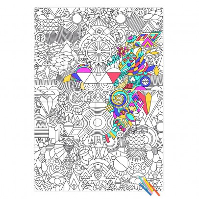 Omy Poster gigante da colorare Patchwork-listing