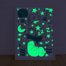 Omy Poster phosphorescent - Orso-product