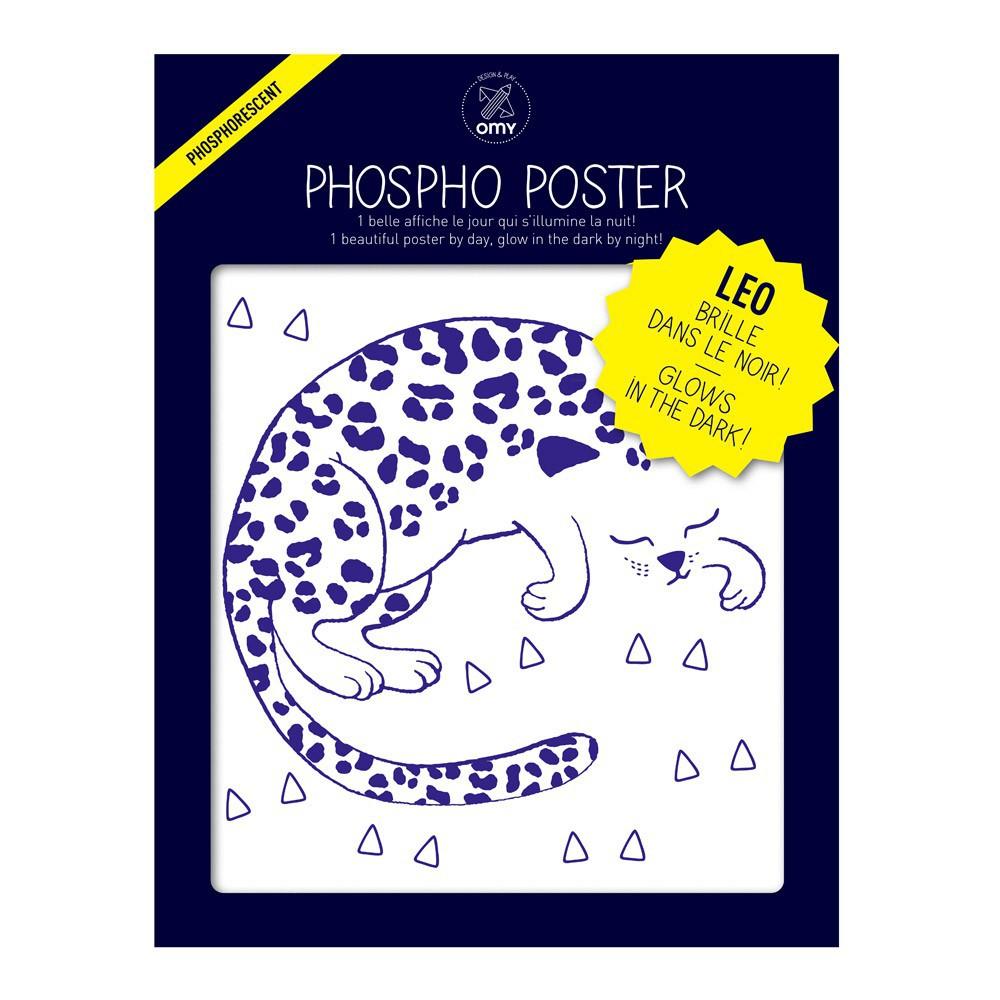 Omy Poster phosphorescent - Leo-product