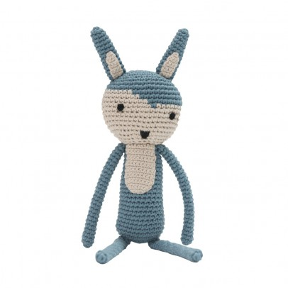 Sebra crochet soft toy - sky blue-listing