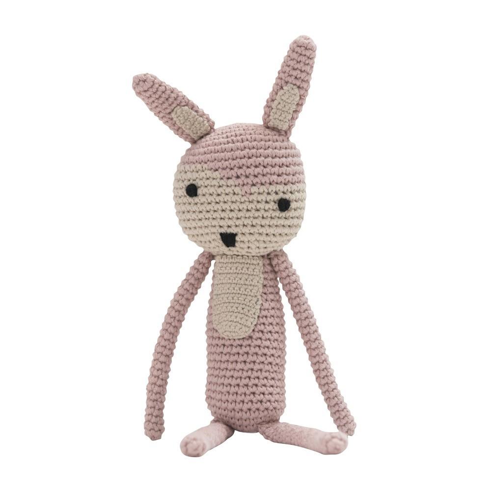 Sebra crochet soft toy - soft pink-product