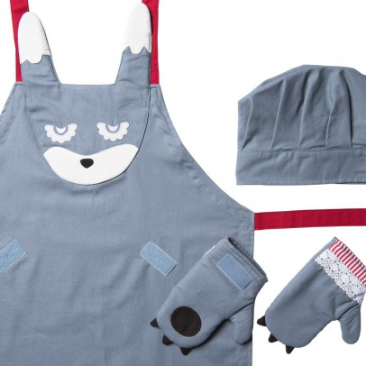 Kooroom Rabbit apron, chef's hat & gloves-listing