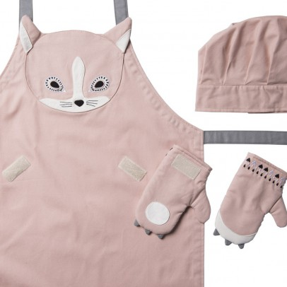 Kooroom Cat apron, chef's hat & gloves-listing