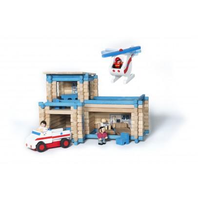 Jeujura Estación de primeros auxilios con helicóptero y ambulancia-listing