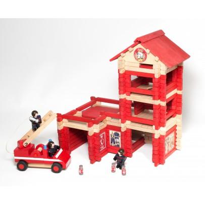 Jeujura Feuerwehrhaus mit Feuerwehrauto-listing